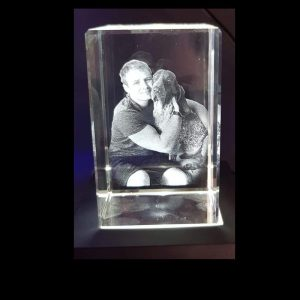 Personalised Glass 2D Cube | Personalised Gifts Awards Pet Memorial