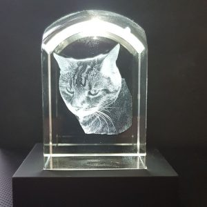 Personalised Glass Cube Crystal Dome Top | Personalised Gifts Awards Pet Memorial