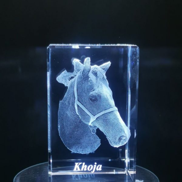 Personalised Glass 3D Cube | Personalised Gifts Awards Pet Memorial