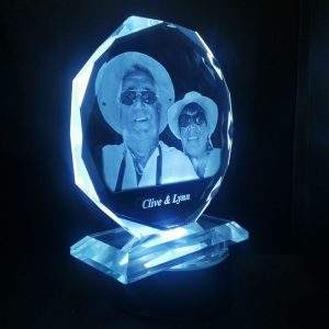 Personalised Glass Octagon Crystal | Personalised Gifts Awards Pet Memorial